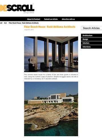 DESCROLL design feeds - Fidar Beach House