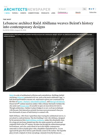 Architect's Newspaper - Raed Abillama